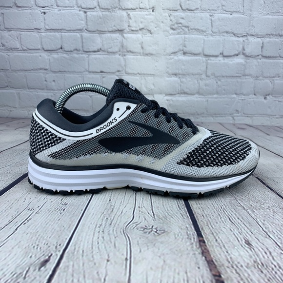 White//Anthracite//Black Brooks Revel Womens Road Running Shoes